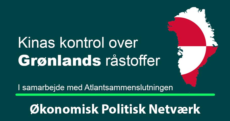 Kinas kontrol over Grønlands råstoffer og sjældne jordarter. Onsdag d. 30. oktober kl. 16.00-17.30 på Frederiksberg Slot.
